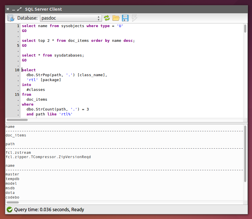 Cross Platform SQL Client/Editor